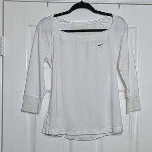 Nike Square Neck 3/4 Sleeve Tennis Top